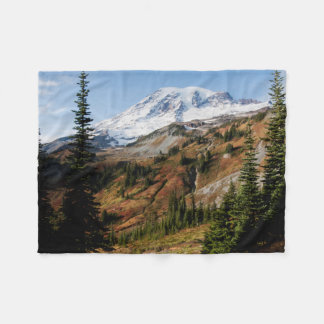 Mount Rainier National Park, autumn Fleece Blanket