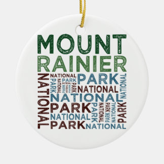 Mount Rainier National Park Christmas Ornament