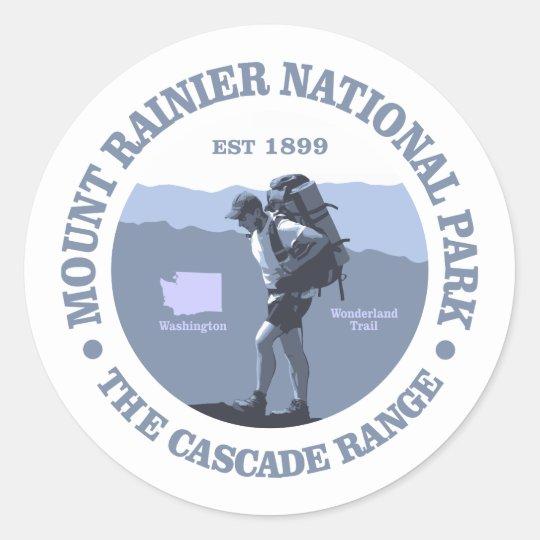 Mount Rainier National Park Classic Round Sticker