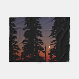 Mount Rainier National Park, Crescent Moon Fleece Blanket