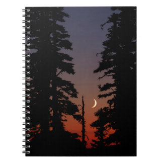 Mount Rainier National Park, Crescent Moon Notebook