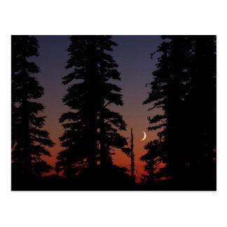 Mount Rainier National Park, Crescent Moon Postcard