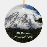Mount Rainier National Park Round Ceramic Decoration