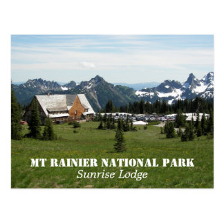 Mount Rainier National Park Lodge Photo Postcard
