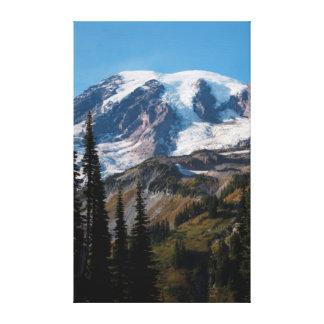 Mount Rainier National Park, Mount Rainier 2 Stretched Canvas Print