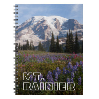 Mount Rainier National Park, Mount Rainier 3 Spiral Notebook