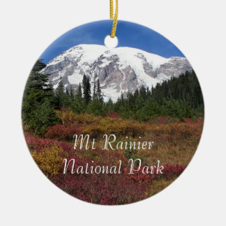 Mount Rainier National Park Photo Ceramic Ornament
