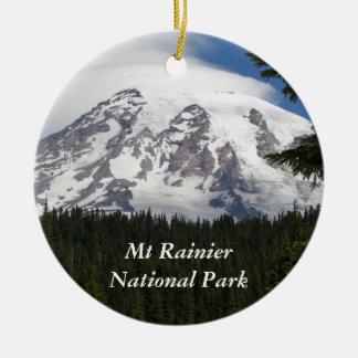 Mount Rainier National Park Photo Ceramic Ornament