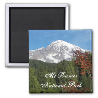 Mount Rainier National Park Photo Square Magnet