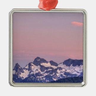 Mount Rainier National Park, Sarvent Glaciers Silver-Colored Square Decoration