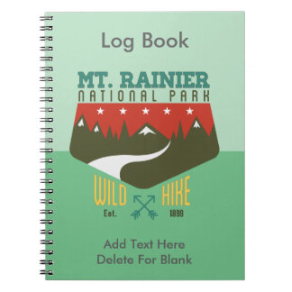 Mount Rainier National Park Spiral Notebooks