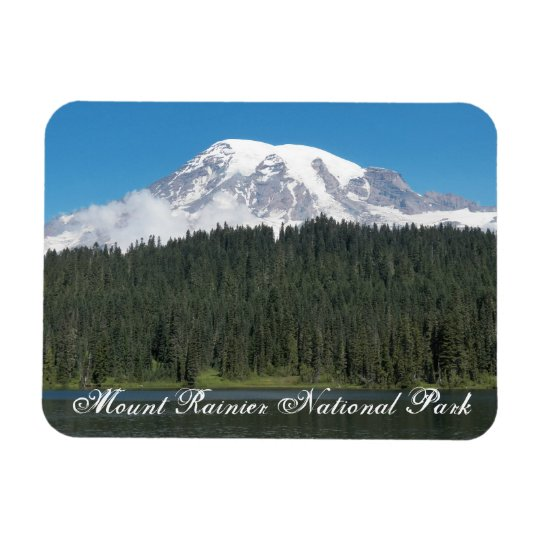 Mount Rainier National Park Travel Photo Rectangular Photo Magnet
