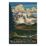 Mount Rainier - Paradise Inn Lodge - Travel Poster