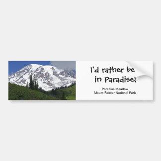 Mount Rainier Paradise Meadow Bumper Sticker