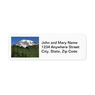 Mount Rainier Photo Return Address Labels