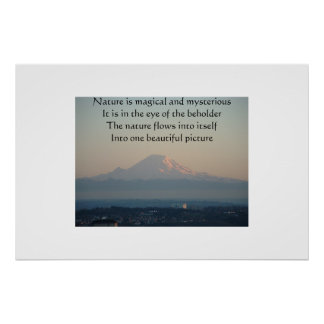 Mount Rainier Photograph with a Poem Poster