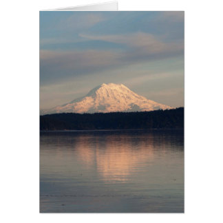 Mount Rainier reflected in Case Inlet Greeting Card
