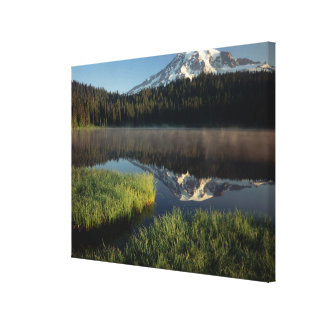 Mount Rainier Reflected in Reflection Lake Canvas Print