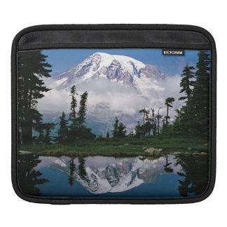 Mount Rainier relected in a mountain tarn iPad Sleeve
