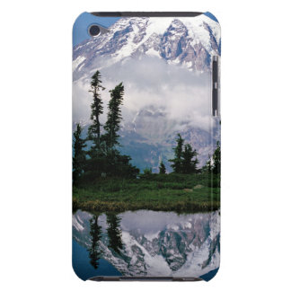 Mount Rainier relected in a mountain tarn iPod Case-Mate Cases