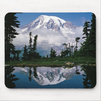 Mount Rainier relected in a mountain tarn Mouse Mat