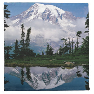 Mount Rainier relected in a mountain tarn Napkin