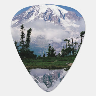 Mount Rainier relected in a mountain tarn Plectrum