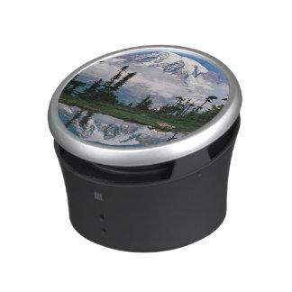 Mount Rainier relected in a mountain tarn Speaker