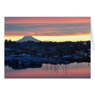 Mount Rainier Sunrise Greeting Card