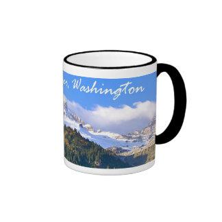 Mount Rainier Sunset Coffee Mugs
