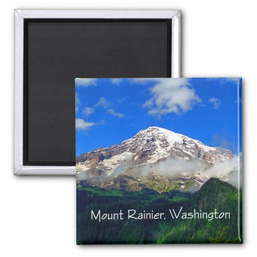 Mount Rainier Viewpoint Refrigerator Magnets