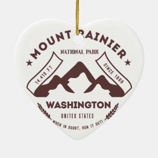 Mount Rainier Washington Christmas Ornament