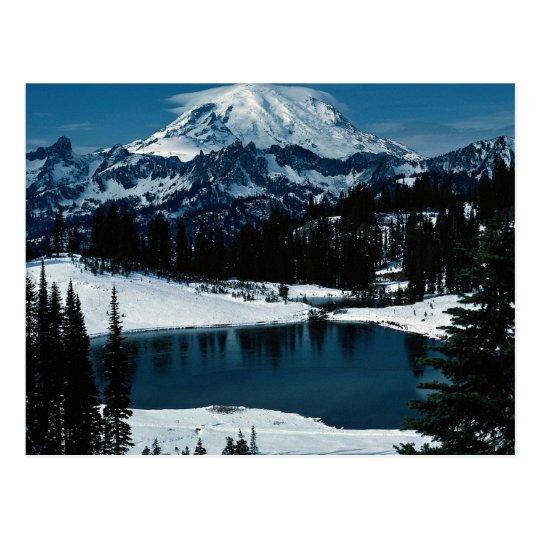 Mount Rainier, Washington State, U.S.A. Winter Postcard