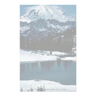Mount Rainier, Washington State, U.S.A. Winter Stationery Design