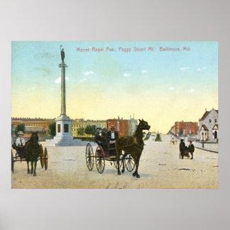 Mount Royal Ave., Baltimore Vintage Poster
