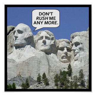 MOUNT RUSHMORE CARTOON POSTER
