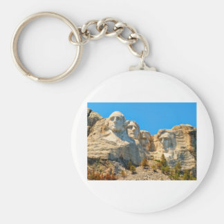 Mount Rushmore Classic View Keychain