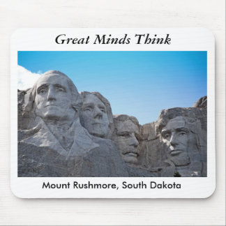 mount rushmore, Great MindsThink Mouse Mat