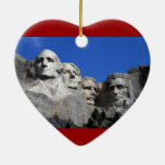 Mount Rushmore National Memorial Monument Ceramic Heart Decoration