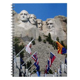 Mount Rushmore National Memorial Souvenir Spiral Note Book