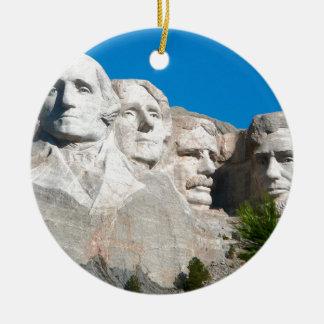 Mount Rushmore Rocks! Mount Rushmore, South Dakota Round Ceramic Decoration