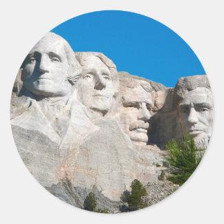 Mount Rushmore Rocks! Mount Rushmore, South Dakota Round Sticker
