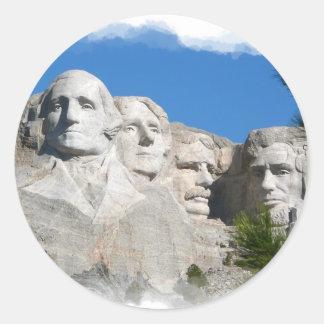 Mount Rushmore Round Sticker
