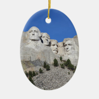 Mount Rushmore South Dakota Presidents USA America Christmas Ornament