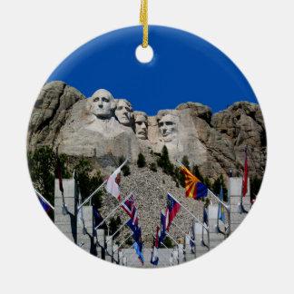Mount Rushmore South Dakota Souvenir Round Ceramic Decoration