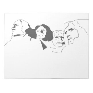 Mount Rushmore USA Presidents Landmark Paper Pad