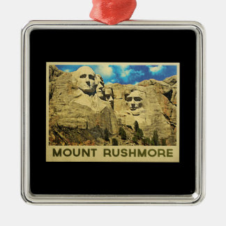 Mount Rushmore Vintage Christmas Ornament
