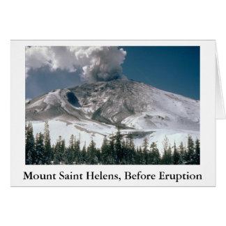 Mount Saint Helens - Pre-Eruption Note Card