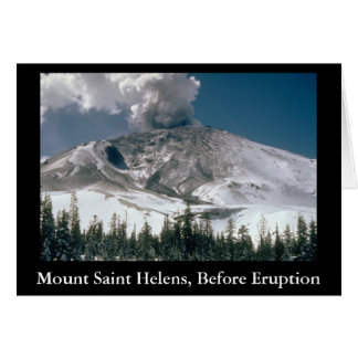 Mount Saint Helens - Pre-Eruption Note Card
