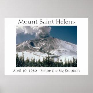 Mount Saint Helens - Pre-Eruption Poster